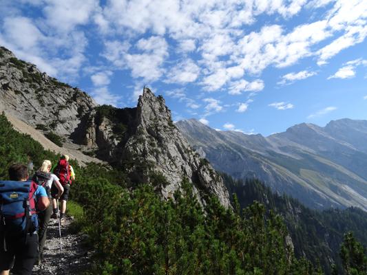 Lattenspitze, Pfeiser Spitze, Thaurer Jochspitze
